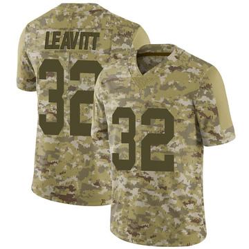 Youth Nike Las Vegas Raiders Dallin Leavitt Camo 2018 Salute to Service Jersey - Limited