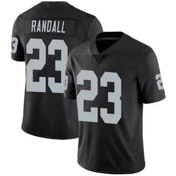 Youth Nike Las Vegas Raiders Damarious Randall Black 100th Vapor Jersey - Limited