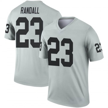 Youth Nike Las Vegas Raiders Damarious Randall Inverted Silver Jersey - Legend