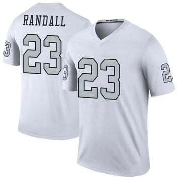 Youth Nike Las Vegas Raiders Damarious Randall White Color Rush Jersey - Legend