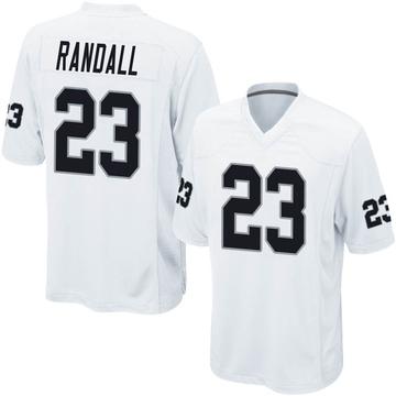 Youth Nike Las Vegas Raiders Damarious Randall White Jersey - Game