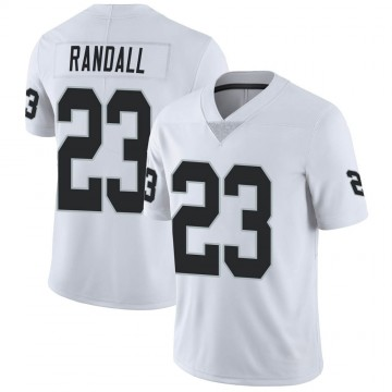 Youth Nike Las Vegas Raiders Damarious Randall White Vapor Untouchable Jersey - Limited