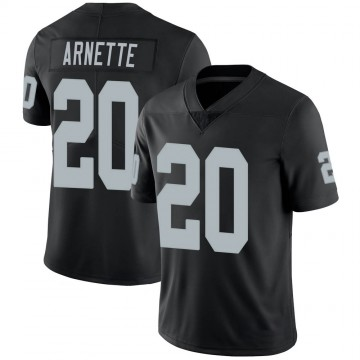 Youth Nike Las Vegas Raiders Damon Arnette Black 100th Vapor Jersey - Limited