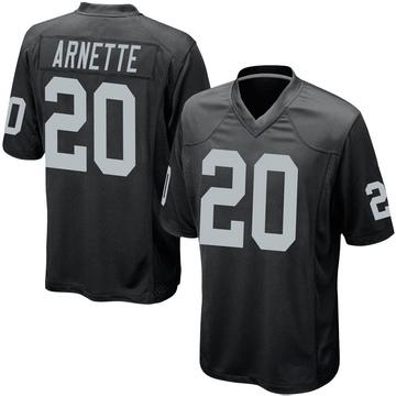 Youth Nike Las Vegas Raiders Damon Arnette Black Team Color Jersey - Game