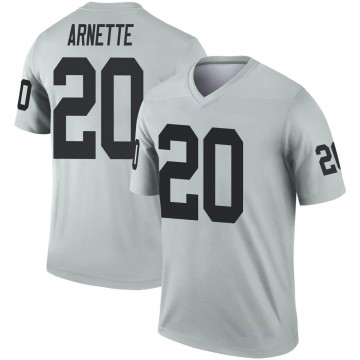 Youth Nike Las Vegas Raiders Damon Arnette Inverted Silver Jersey - Legend