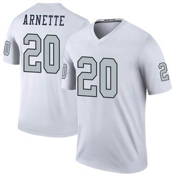 Youth Nike Las Vegas Raiders Damon Arnette White Color Rush Jersey - Legend