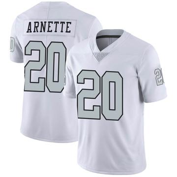 Youth Nike Las Vegas Raiders Damon Arnette White Color Rush Jersey - Limited