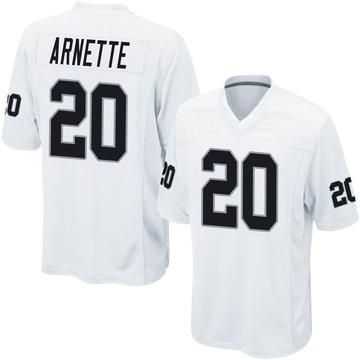 Youth Nike Las Vegas Raiders Damon Arnette White Jersey - Game