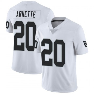 Youth Nike Las Vegas Raiders Damon Arnette White Vapor Untouchable Jersey - Limited