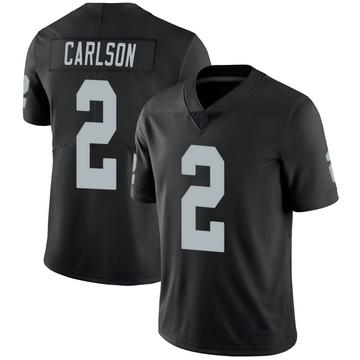 Youth Nike Las Vegas Raiders Daniel Carlson Black 100th Vapor Jersey - Limited