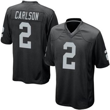Youth Nike Las Vegas Raiders Daniel Carlson Black Team Color Jersey - Game