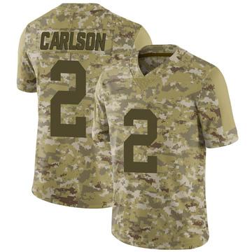 Youth Nike Las Vegas Raiders Daniel Carlson Camo 2018 Salute to Service Jersey - Limited