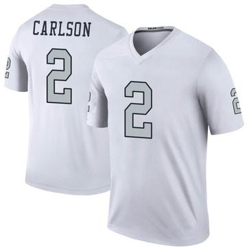 Youth Nike Las Vegas Raiders Daniel Carlson White Color Rush Jersey - Legend