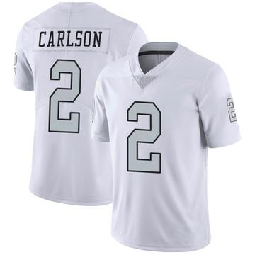 Youth Nike Las Vegas Raiders Daniel Carlson White Color Rush Jersey - Limited