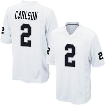 Youth Nike Las Vegas Raiders Daniel Carlson White Jersey - Game