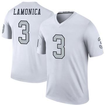 Youth Nike Las Vegas Raiders Daryle Lamonica White Color Rush Jersey - Legend