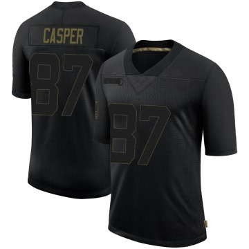 Youth Nike Las Vegas Raiders Dave Casper Black 2020 Salute To Service Jersey - Limited