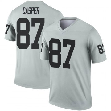 Youth Nike Las Vegas Raiders Dave Casper Inverted Silver Jersey - Legend