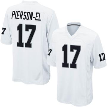 Youth Nike Las Vegas Raiders De'Mornay Pierson-El White Jersey - Game