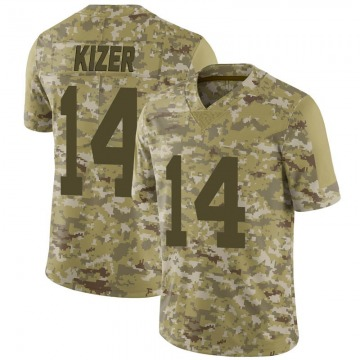 Youth Nike Las Vegas Raiders DeShone Kizer Camo 2018 Salute to Service Jersey - Limited