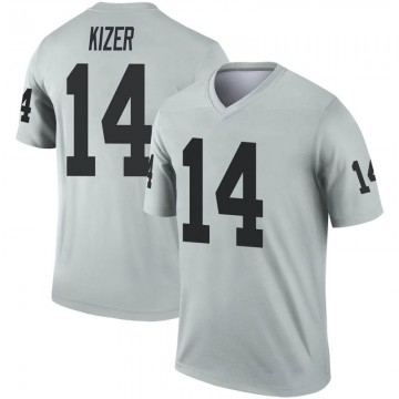 Youth Nike Las Vegas Raiders DeShone Kizer Inverted Silver Jersey - Legend