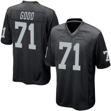 Youth Nike Las Vegas Raiders Denzelle Good Black Team Color Jersey - Game