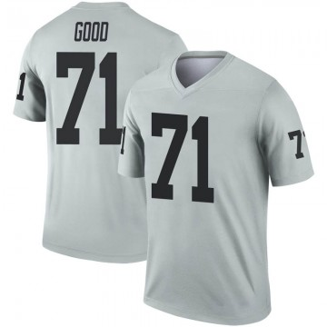 Youth Nike Las Vegas Raiders Denzelle Good Inverted Silver Jersey - Legend