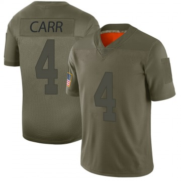 Youth Nike Las Vegas Raiders Derek Carr Camo 2019 Salute to Service Jersey - Limited