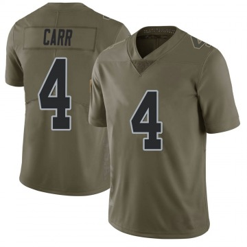 Youth Nike Las Vegas Raiders Derek Carr Green 2017 Salute to Service Jersey - Limited