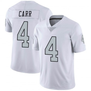 Youth Nike Las Vegas Raiders Derek Carr White Color Rush Jersey - Limited