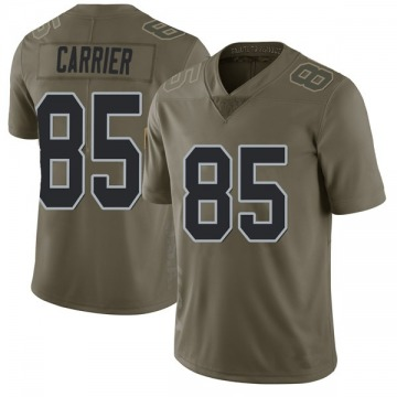 Youth Nike Las Vegas Raiders Derek Carrier Green 2017 Salute to Service Jersey - Limited