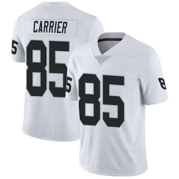Youth Nike Las Vegas Raiders Derek Carrier White Vapor Untouchable Jersey - Limited