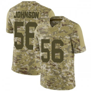 Youth Nike Las Vegas Raiders Derrick Johnson Camo 2018 Salute to Service Jersey - Limited