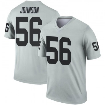 Youth Nike Las Vegas Raiders Derrick Johnson Inverted Silver Jersey - Legend