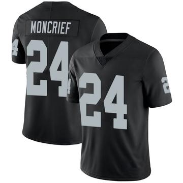 Youth Nike Las Vegas Raiders Derrick Moncrief Black 100th Vapor Jersey - Limited