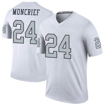 Youth Nike Las Vegas Raiders Derrick Moncrief White Color Rush Jersey - Legend