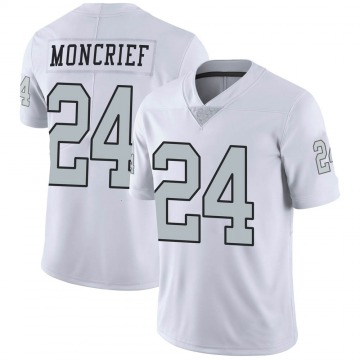 Youth Nike Las Vegas Raiders Derrick Moncrief White Color Rush Jersey - Limited