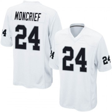 Youth Nike Las Vegas Raiders Derrick Moncrief White Jersey - Game