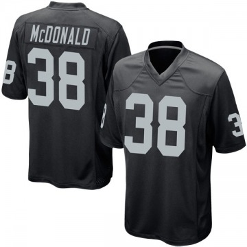 Youth Nike Las Vegas Raiders Dexter McDonald Black Team Color Jersey - Game