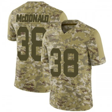 Youth Nike Las Vegas Raiders Dexter McDonald Camo 2018 Salute to Service Jersey - Limited