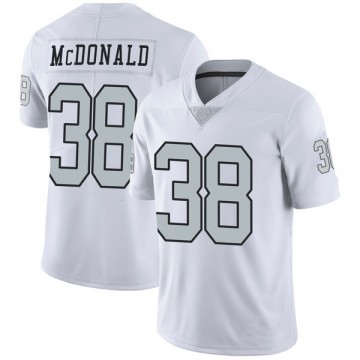 Youth Nike Las Vegas Raiders Dexter McDonald White Color Rush Jersey - Limited