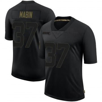 Youth Nike Las Vegas Raiders Dylan Mabin Black 2020 Salute To Service Jersey - Limited