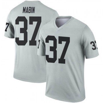 Youth Nike Las Vegas Raiders Dylan Mabin Inverted Silver Jersey - Legend