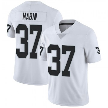 Youth Nike Las Vegas Raiders Dylan Mabin White Vapor Untouchable Jersey - Limited