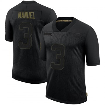 Youth Nike Las Vegas Raiders EJ Manuel Black 2020 Salute To Service Jersey - Limited