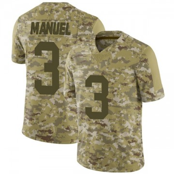 Youth Nike Las Vegas Raiders EJ Manuel Camo 2018 Salute to Service Jersey - Limited