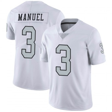 Youth Nike Las Vegas Raiders EJ Manuel White Color Rush Jersey - Limited