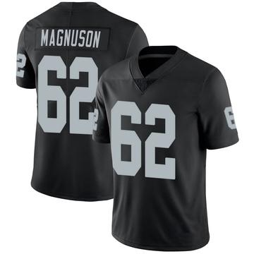 Youth Nike Las Vegas Raiders Erik Magnuson Black 100th Vapor Jersey - Limited