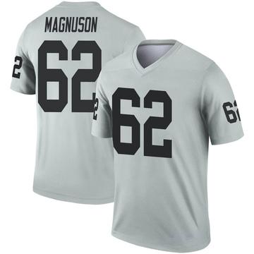 Youth Nike Las Vegas Raiders Erik Magnuson Inverted Silver Jersey - Legend