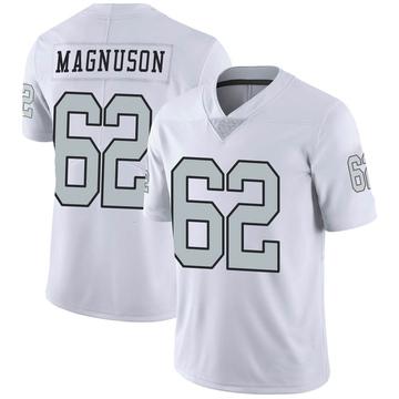 Youth Nike Las Vegas Raiders Erik Magnuson White Color Rush Jersey - Limited